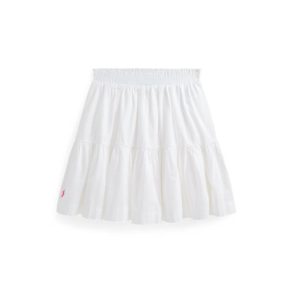 폴로 랄프로렌 Polo Ralph Lauren Cotton Seersucker Skirt,White