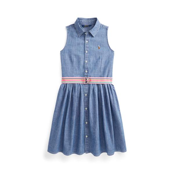 폴로 랄프로렌 Polo Ralph Lauren Cotton Chambray Shirtdress,Indigo