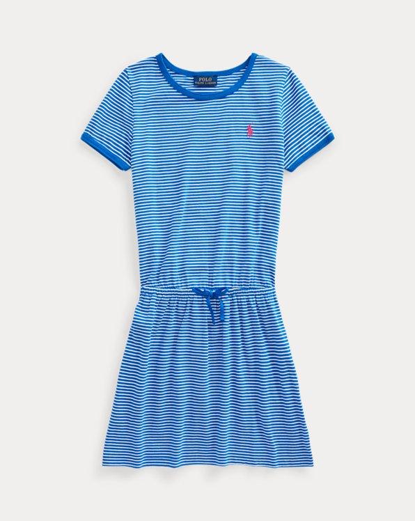 Striped Cotton Jersey Tee Dress