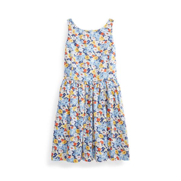 폴로 랄프로렌 Polo Ralph Lauren Floral Cotton Poplin Dress,Preppy Floral
