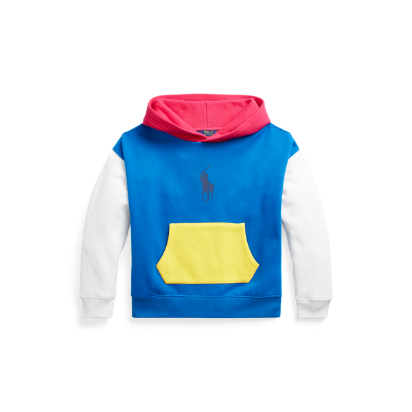 Colour-Blocked Fleece Hoodie