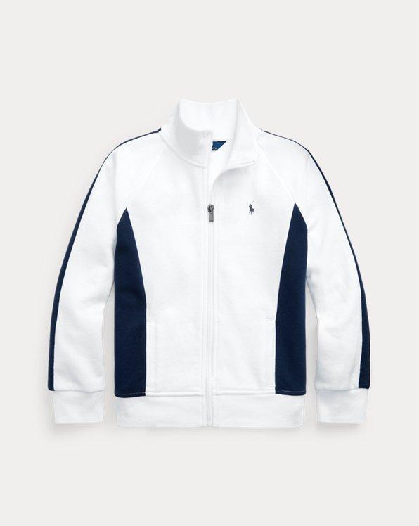 Cotton-Blend-Fleece Track Jacket