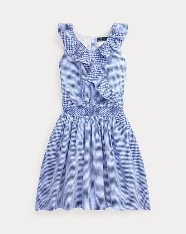 Gingham Cotton Seersucker Dress