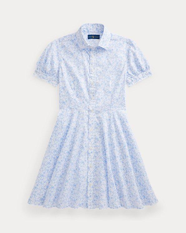 Floral Anchor Cotton Shirtdress