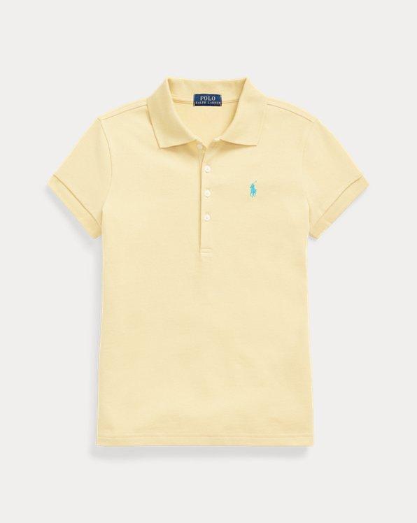 Stretch-Cotton-Mesh Polo Shirt