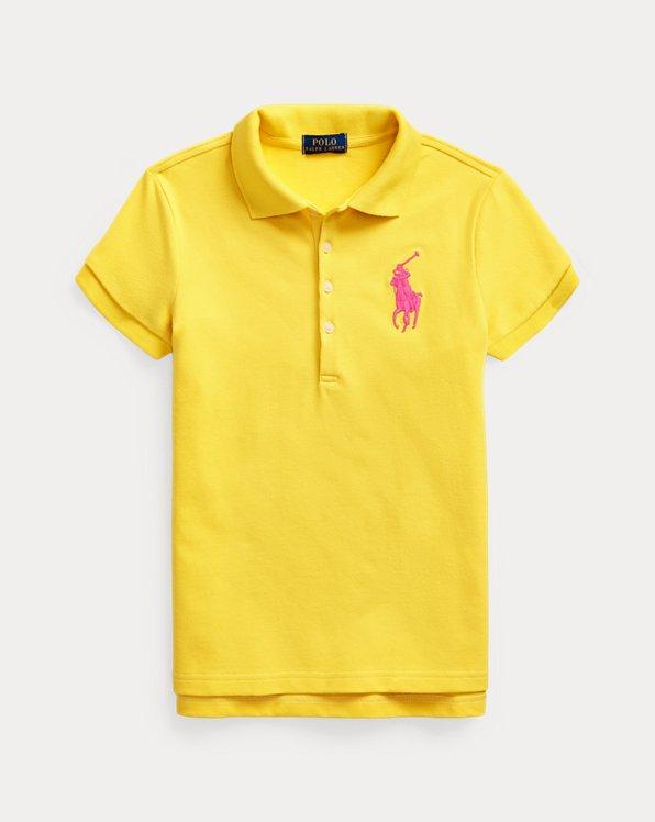 Big Pony Stretch Mesh Polo Shirt