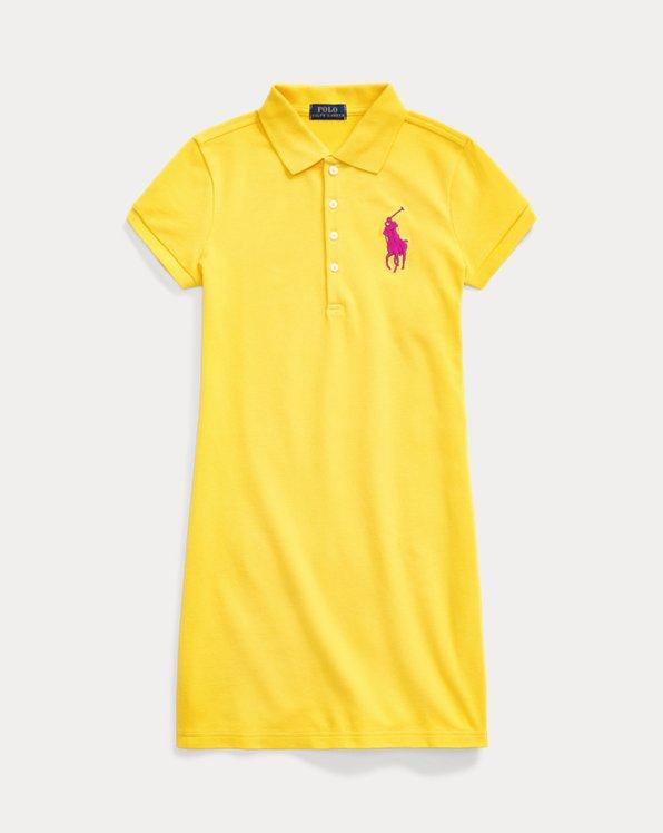 Big Pony Stretch Mesh Polo Dress