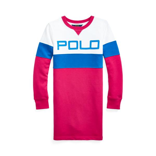 폴로 랄프로렌 Polo Ralph Lauren Logo Fleece Tee Dress,Multi