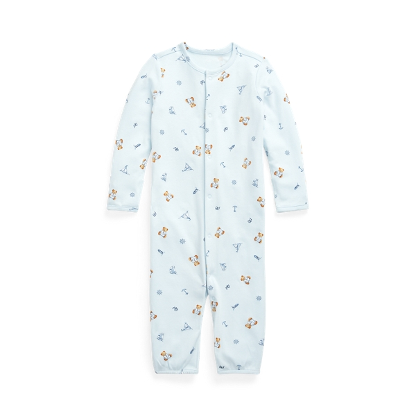 폴로 랄프로렌 Polo Ralph Lauren Polo Bear Convertible Gown Coverall,Blue Multi
