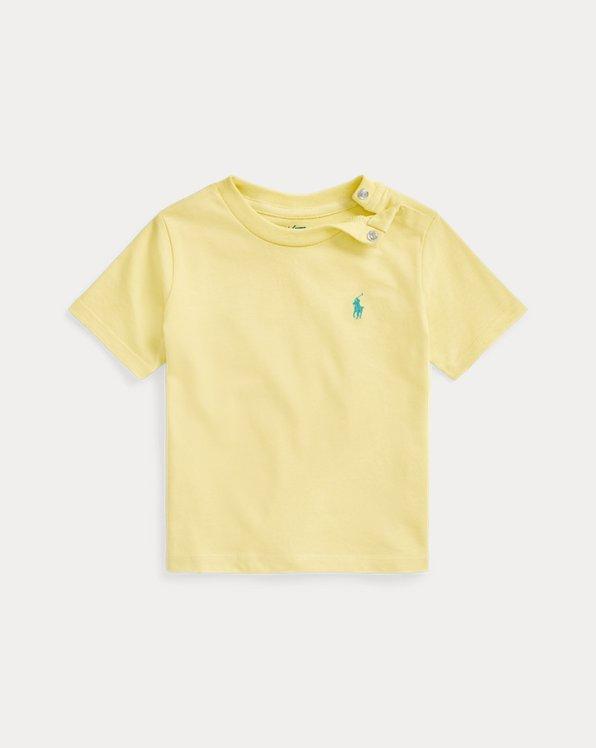 Maglietta girocollo in jersey di cotone