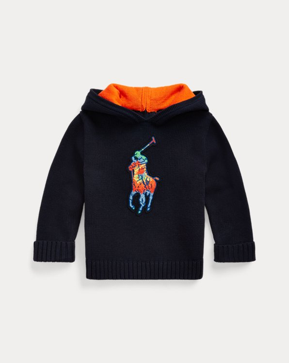Big Pony Cotton Hooded Sweater