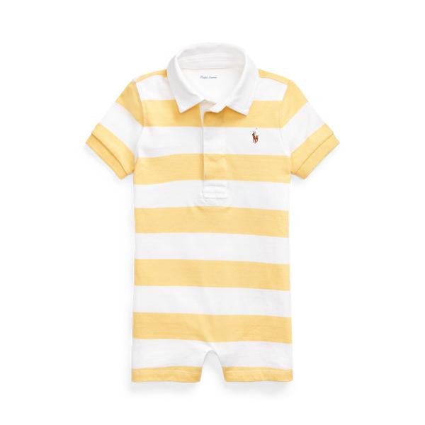 폴로 랄프로렌 Polo Ralph Lauren Striped Cotton Rugby Shortall,Empire Yellow Multi