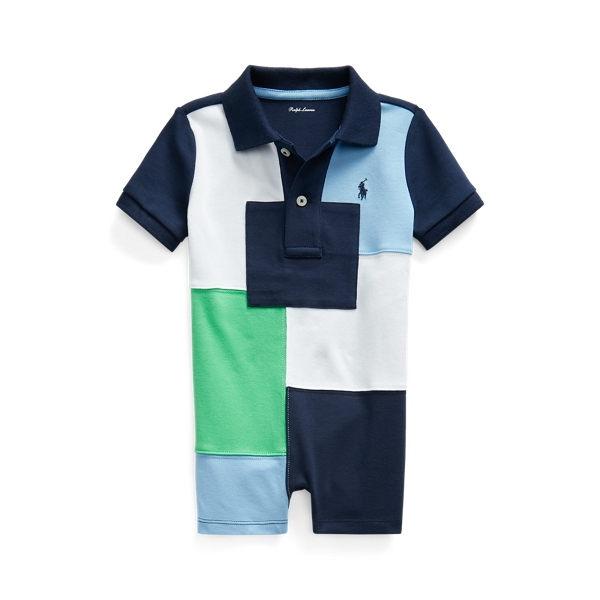 Ralph Lauren PATCHWORK COTTON POLO SHORTALL