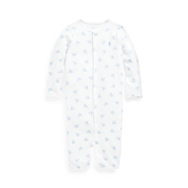 폴로 랄프로렌 Polo Ralph Lauren Sailboat Print Convertible Gown Coverall,White Multi