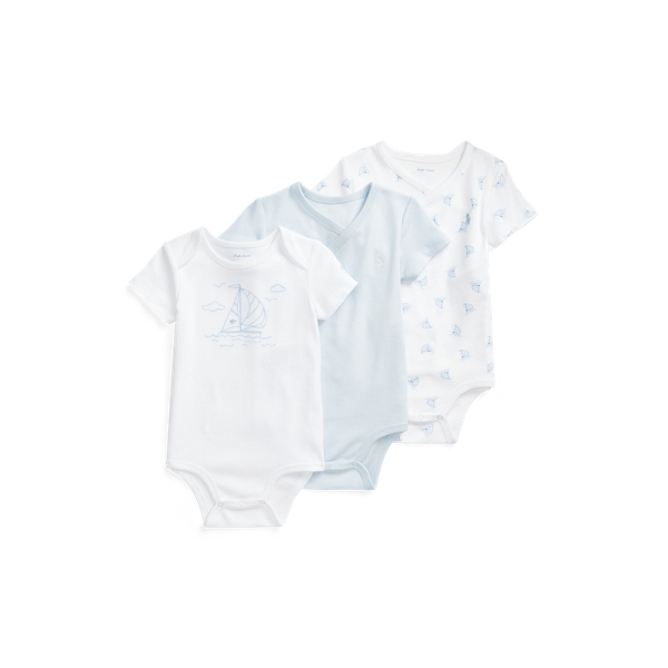 Ralph Lauren SAILBOAT BODYSUIT 3-PIECE SET