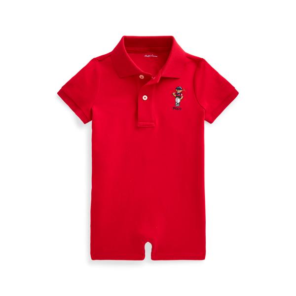 폴로 랄프로렌 Polo Ralph Lauren Polo Bear Soft Cotton Shortall,RL 2000 Red