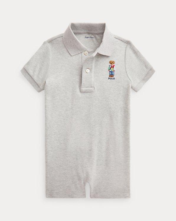 Polo Bear Soft Cotton Polo Shortall