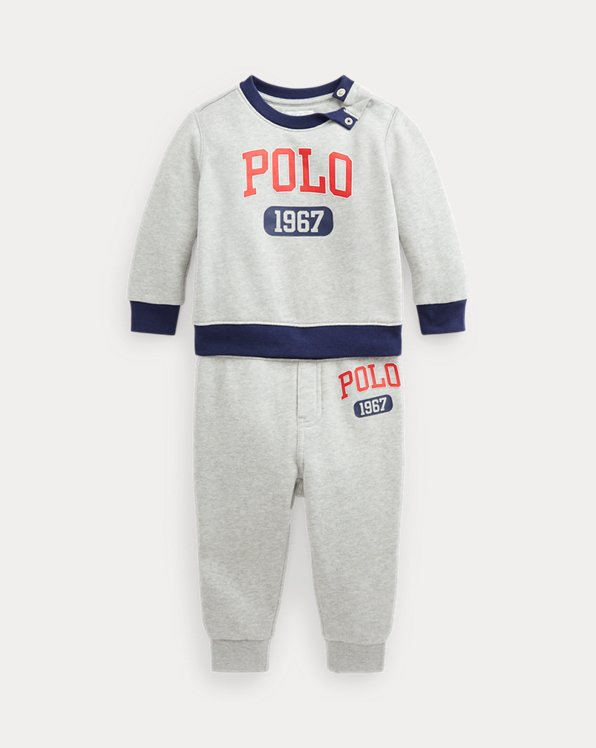 Logo Fleece Sweatshirt & Trouser Set