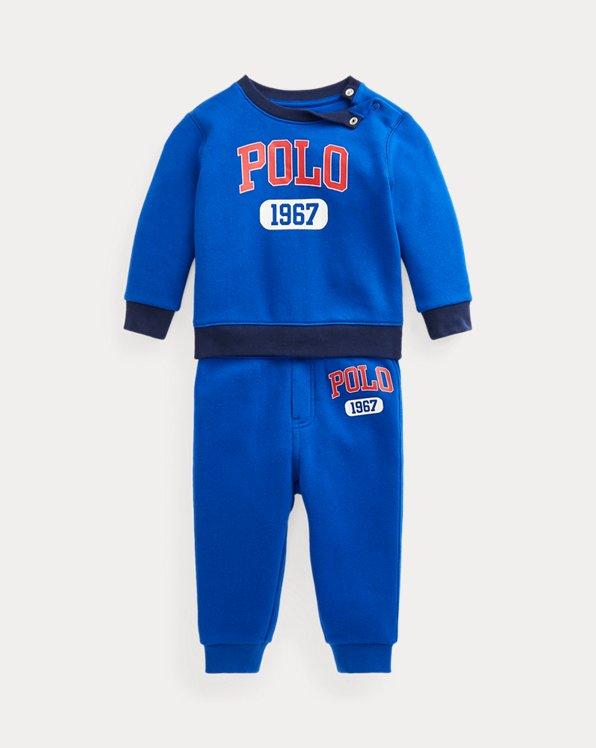 Logo Fleece Sweatshirt & Jogger Pant Set
