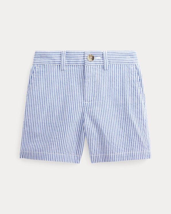 Stretch Cotton Seersucker Short