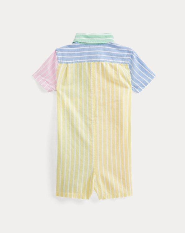 Striped Cotton Oxford Fun Shortall