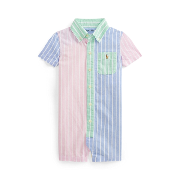 폴로 랄프로렌 Polo Ralph Lauren Striped Cotton Oxford Fun Shortall,Multi