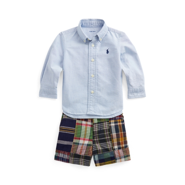 Ralph Lauren Sets OXFORD SHIRT & MADRAS SHORT SET