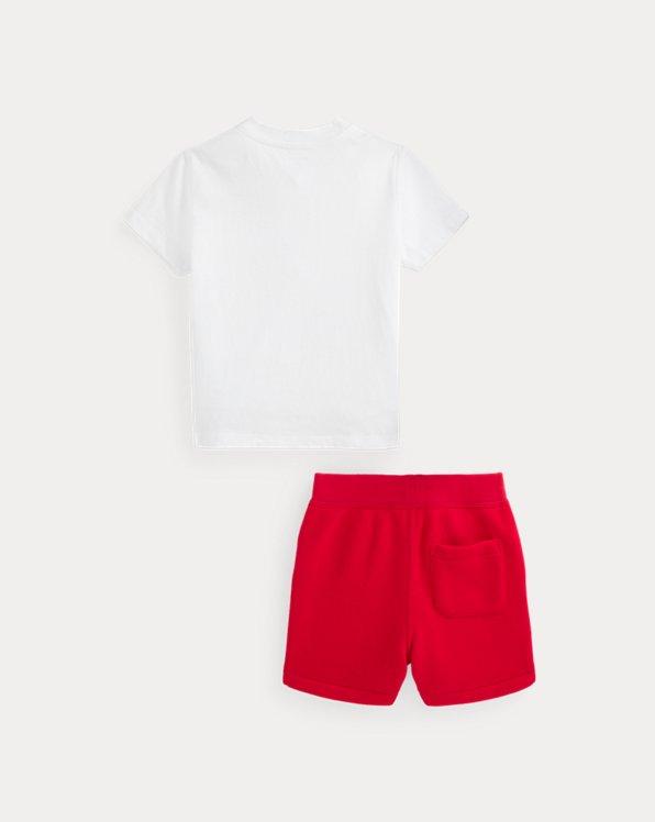 Polo Bear Tee & Fleece Short Set