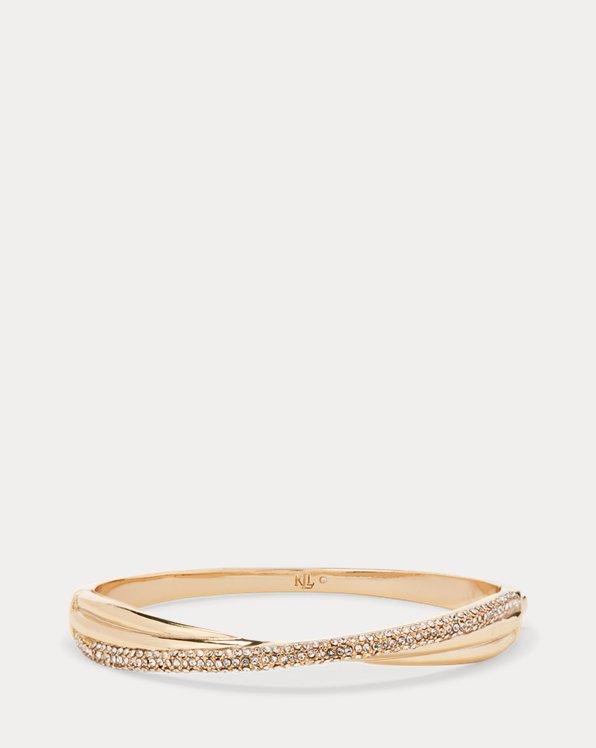 Bracelet à nœud pavé doré