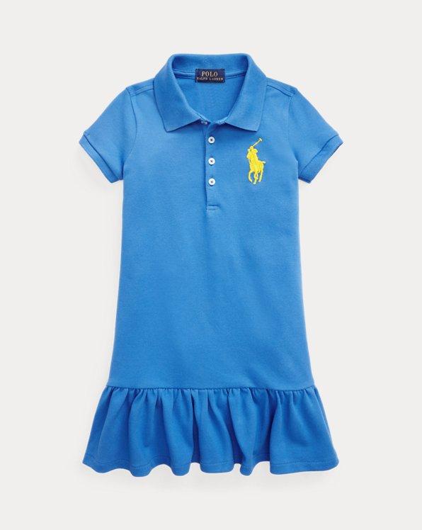 폴로 랄프로렌 여아용 원피스 Polo Ralph Lauren Big Pony Mesh Polo Dress,Colby Blue