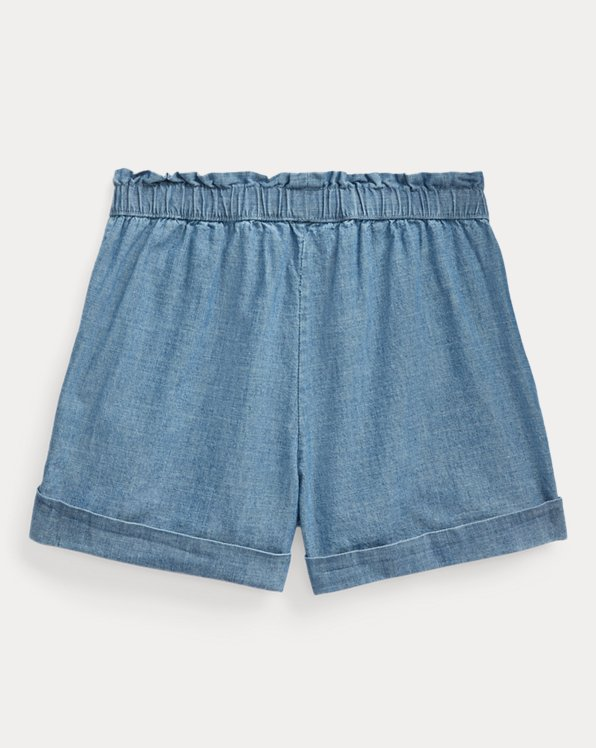 Cotton Chambray Camp Short