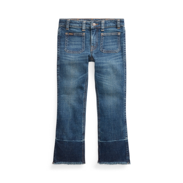 폴로 랄프로렌 여아용 바지 Polo Ralph Lauren Jenn Flare Denim Pant,Nevis Wash