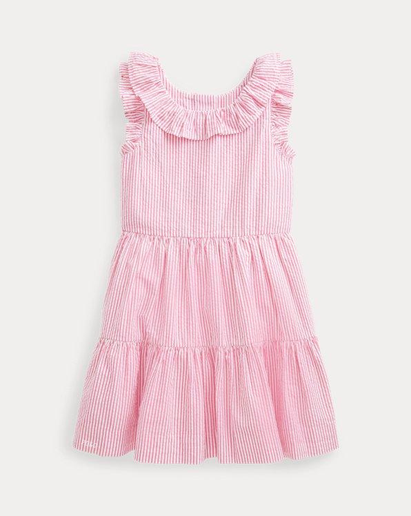 Striped Cotton Seersucker Dress