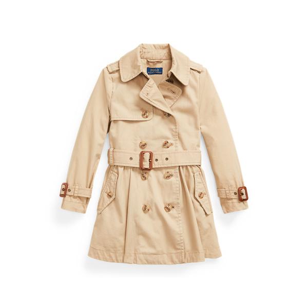 폴로 랄프로렌 여아용 트렌치 코트 Polo Ralph Lauren Water-Repellent Trench Coat,Classic Khaki