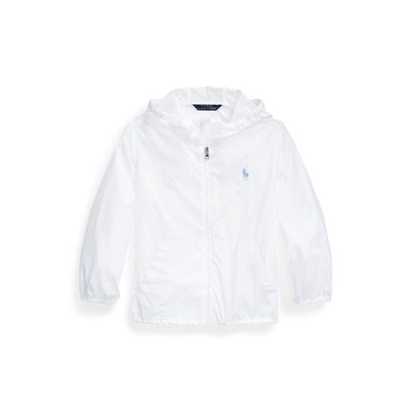 폴로 랄프로렌 여아용 자켓 Polo Ralph Lauren Packable Hooded Jacket,White