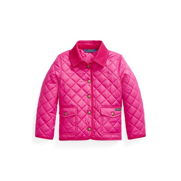 폴로 랄프로렌 여아용 자켓 Polo Ralph Lauren Quilted Barn Jacket,Accent Pink