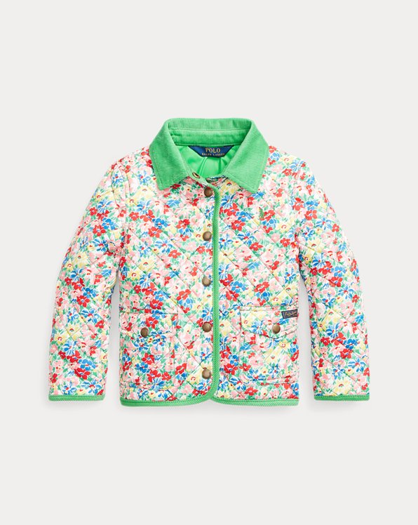 Floral Quilted Barn Jacket