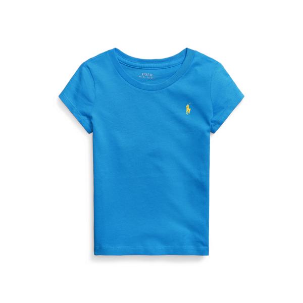 폴로 랄프로렌 여아용 포니 자수 티셔츠 Polo Ralph Lauren Cotton Jersey Tee,Colby Blue