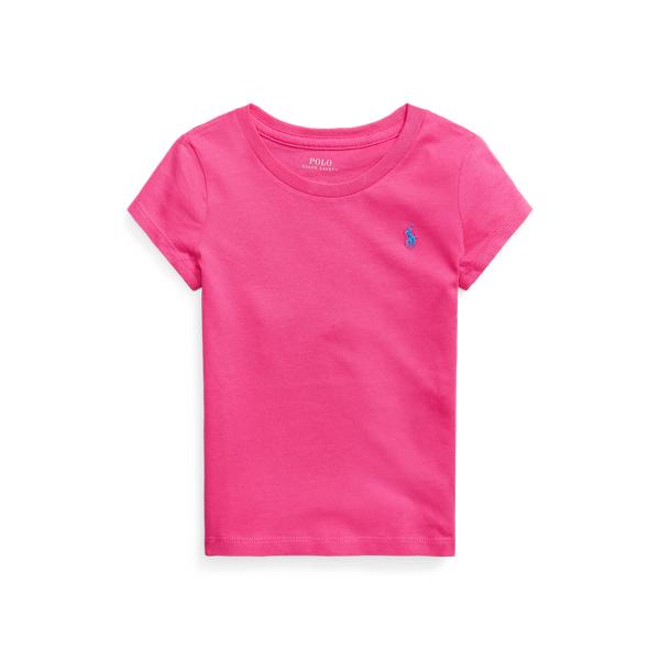 폴로 랄프로렌 여아용 포니 자수 티셔츠 Polo Ralph Lauren Cotton Jersey Tee,Accent Pink