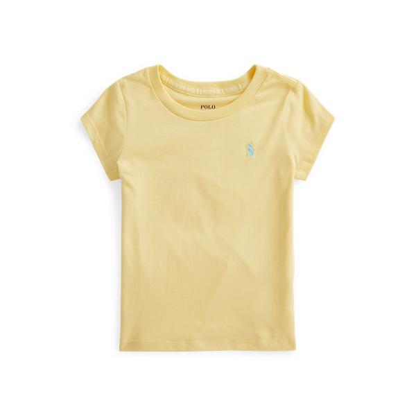 폴로 랄프로렌 여아용 포니 자수 티셔츠 Polo Ralph Lauren Cotton Jersey Tee,Banana Peel