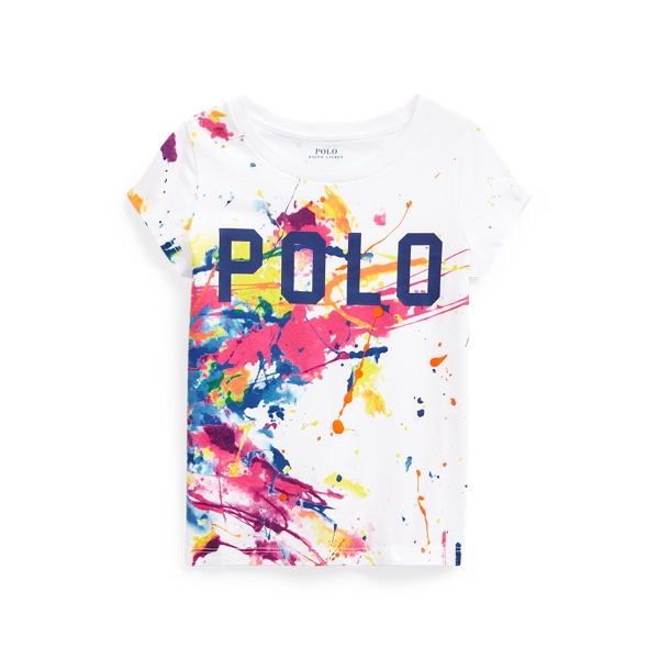 Polo Ralph Lauren PAINT-SPLATTER LOGO COTTON JERSEY TEE
