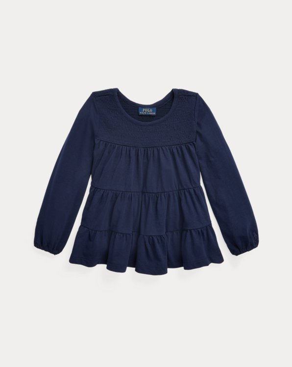 Tiered Cotton Jersey Top