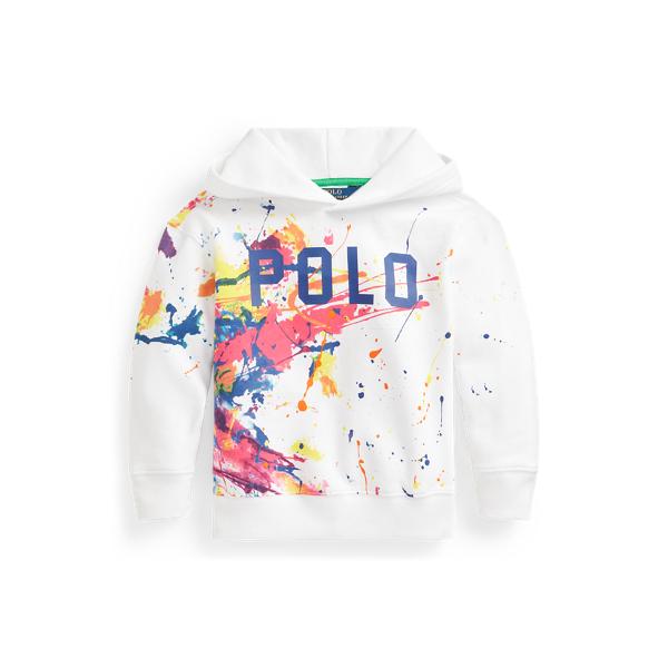폴로 랄프로렌 여아용 후드티 Polo Ralph Lauren Paint-Splatter Fleece Hoodie,White Multi