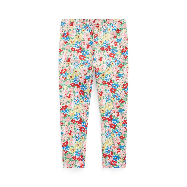 폴로 랄프로렌 여아용 레깅스 Polo Ralph Lauren Floral Stretch Jersey Legging,Red Multi