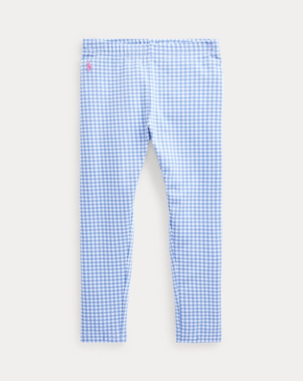 Gingham Stretch Jersey Legging