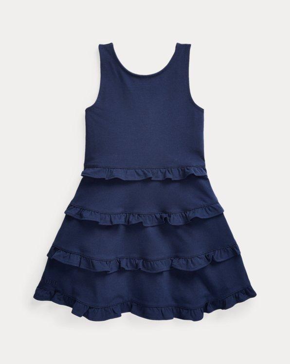 Ruffled Cotton Jersey Dress