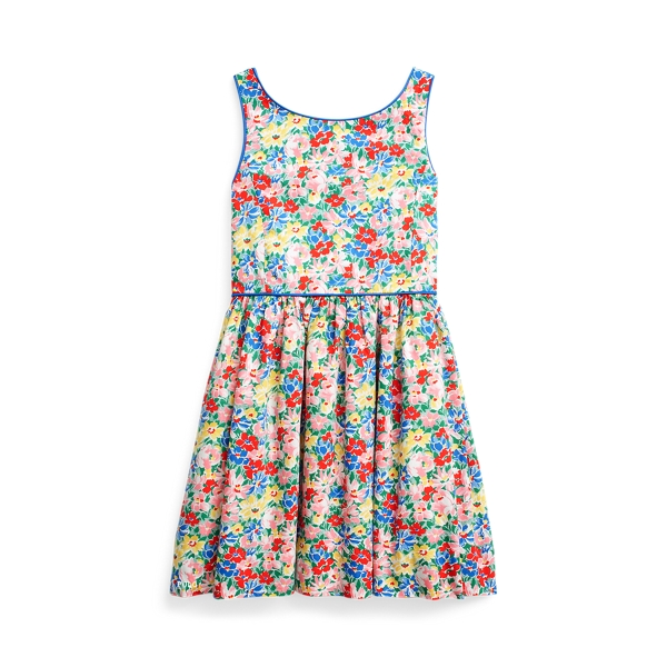 폴로 랄프로렌 여아용 원피스 Polo Ralph Lauren Floral Cotton Poplin Dress,Yellow Floral Multi