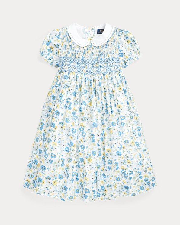 Striped Hand-Smocked Cotton Dress
