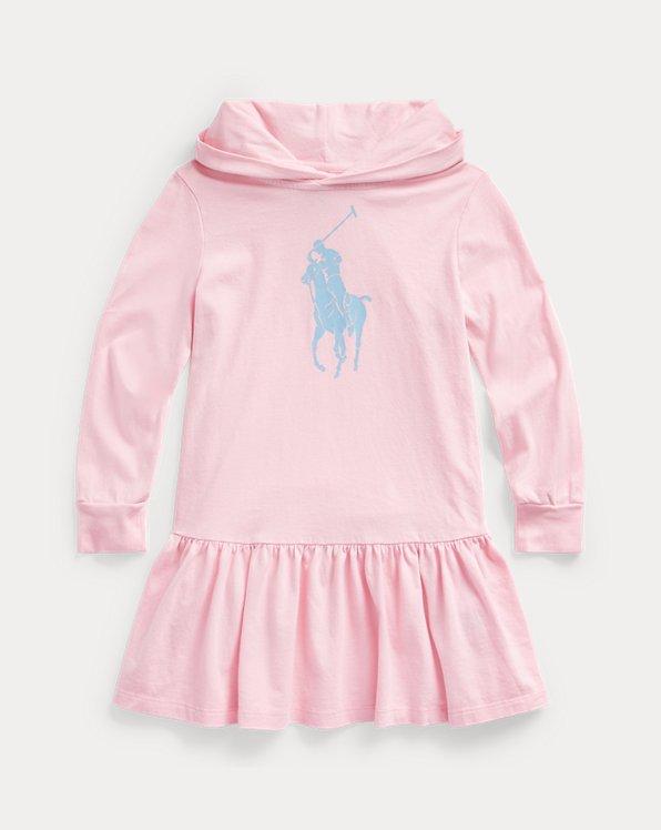 폴로 랄프로렌 여아용 후드 원피스 Polo Ralph Lauren Big Pony Cotton Jersey Hooded Dress,Carmel Pink