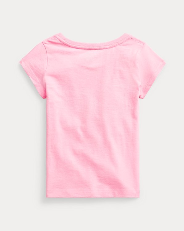 Floral-Logo Cotton Jersey Tee